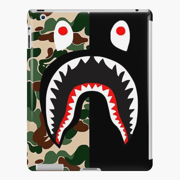 BLack Bape Camo Shark iPad Snap Case
