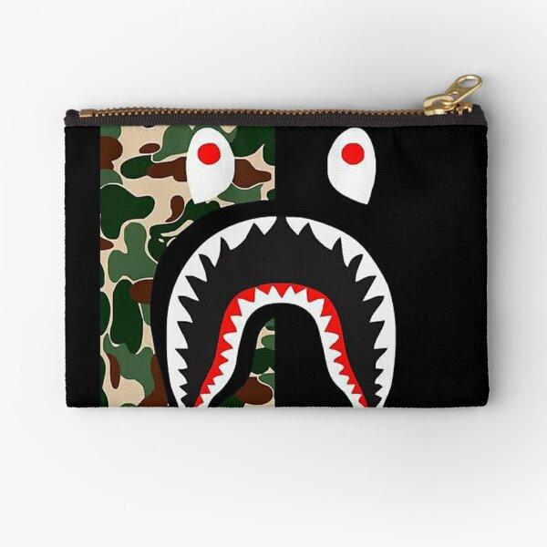 BLack Bape Camo Shark Zipper Pouch