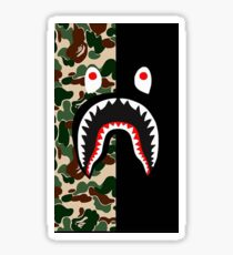 BLack Bape Camo Shark Sticker