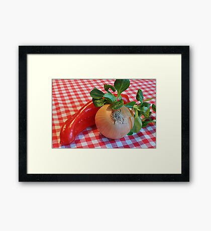 Food for the eyes Framed Print