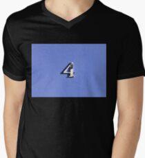 4 THE LOVE OF NUMERALS - RETRO STYLE Men's V-Neck T-Shirt