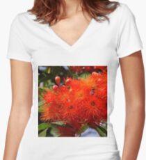 Flowering Gum Women's Fitted V-Neck T-Shirt