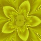 Bright Psychedelic floral by Joan Marie Flaherty