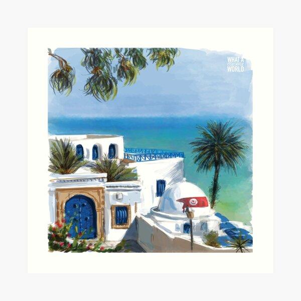 Sidi Bou Said, Tunesien-T-Shirt, Poster und Geschenke Kunstdruck