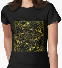 Gold and Black Design 14 Women's Fitted T-Shirt