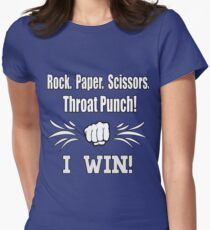 Rock, Paper, Scissors, Throat Punch Women's Fitted T-Shirt