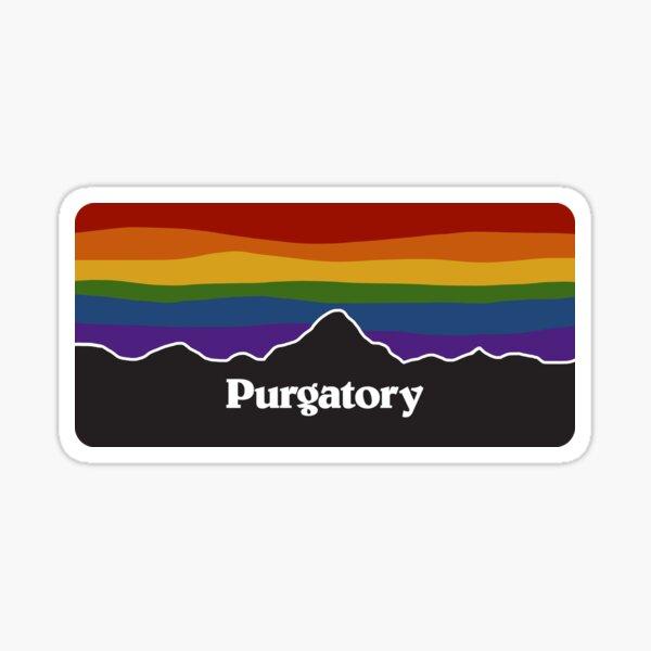 Purgatory Pride Rainbow Sunset - Wynonna Earp Pegatina