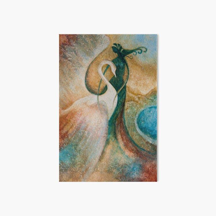 LEDA AND THE SWAN Art Board Print