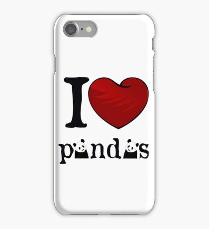 I heart Pandas iPhone Case/Skin