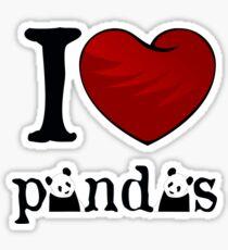 I heart Pandas Sticker