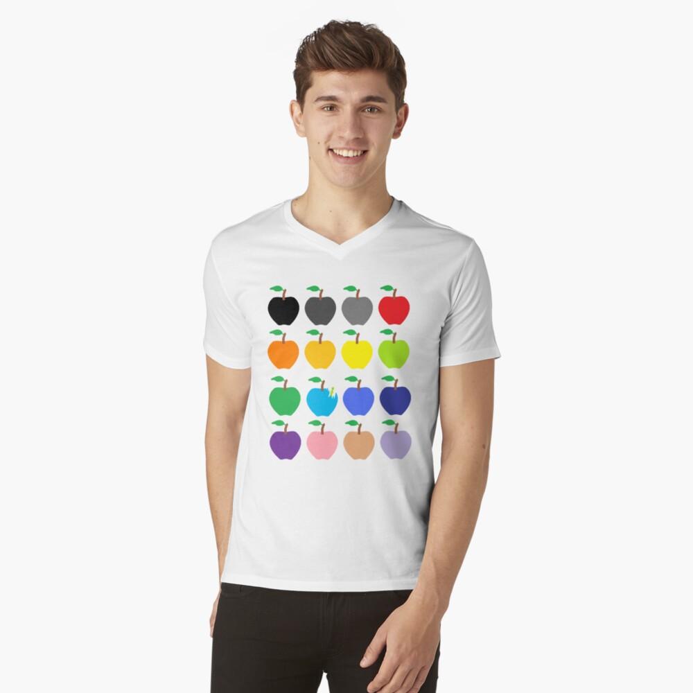 Multi Color Apples V-Neck T-Shirt