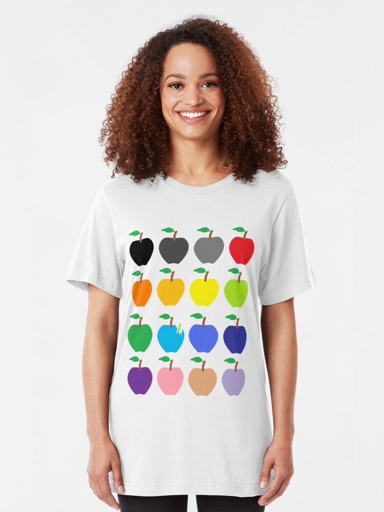 Alternate view of Multi Color Apples Slim Fit T-Shirt
