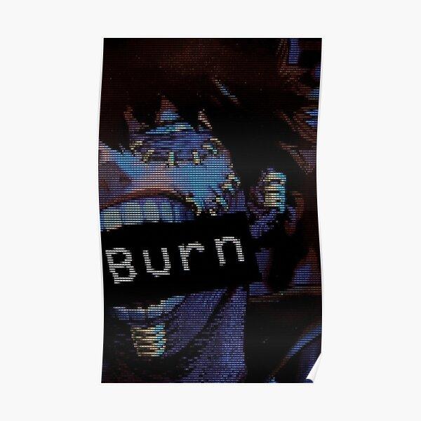 BNHA Dabi VHS Aesthetic 'Burn'  Poster