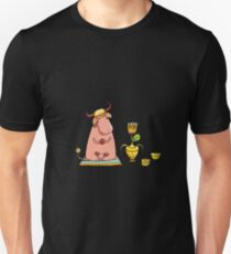 Artistic Meditating Cow Unisex T-Shirt