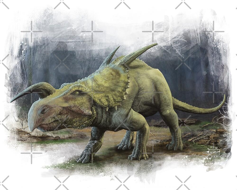 Einiosaurus by Jeff Powers Illustration