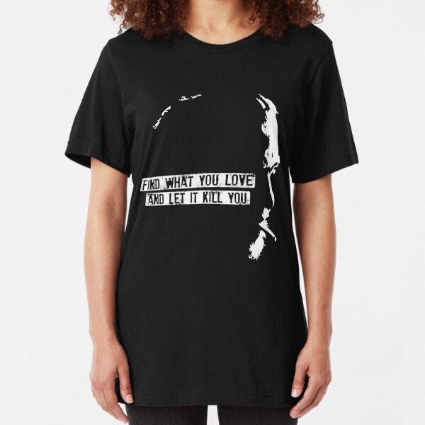 Charles Bukowski Slim Fit T-Shirt