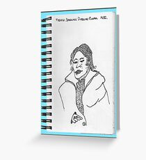 NYC-French speaking woman on the subway Greeting Card