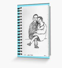 NYC-Lovers on the late train out of Grand Central Greeting Card