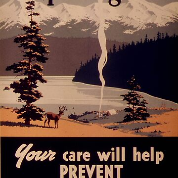 Historic prevent fires poster by franceslewis