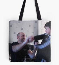 Samson and Goliath Tote Bag