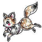 Leaping Fancy Fox by Ella Mobbs