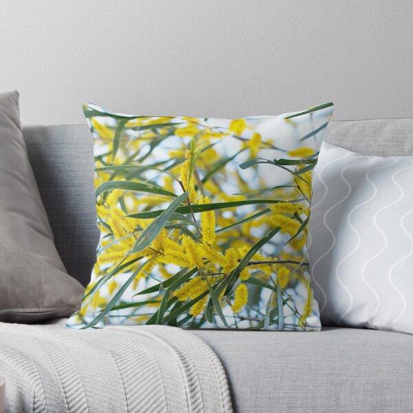 Wattle - Western Australian wildflowers Throw Pillow