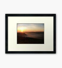 Fog over the Vale of York, Yorkshire, UK Framed Print