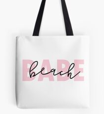 Beach Babe in Pink Tote Bag