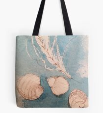 Shells in Blue  Tote Bag