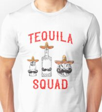 'Tequila Squad ' Cool National Tequila Day Gift  Unisex T-Shirt