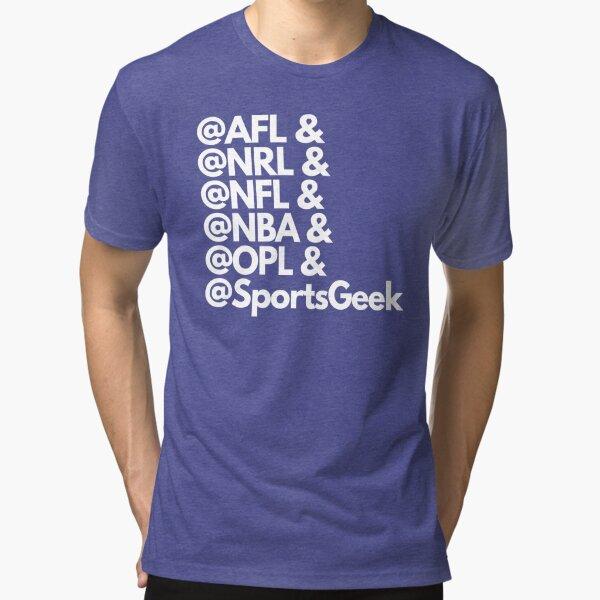 @SportsGeek - Leagues we work in Tri-blend T-Shirt