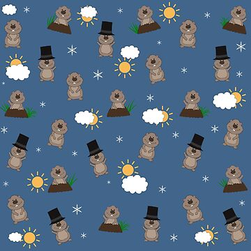 Groundhog Day Pattern by ValentinaHramov