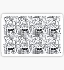 Monochrome Series - New Year  Sticker