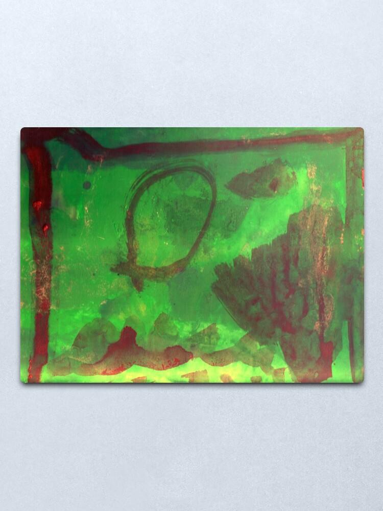 Alternate view of Abstract Aquarium Metal Print