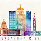 Oklahoma City-Markstein-Aquarellplakat von paulrommer