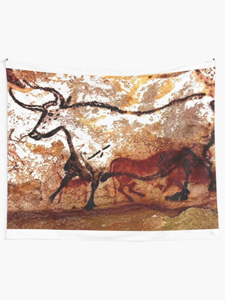 Alternate view of #Lascaux #Cave #Paintings #Bull LascauxCave PaintingsBull LascauxCavePaintingsBull CavePaintings CaveDrawings drawings Tapestry