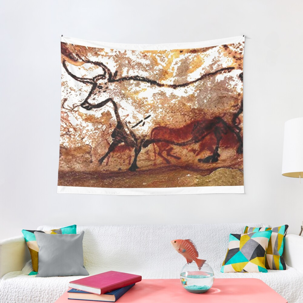 #Lascaux #Cave #Paintings #Bull LascauxCave PaintingsBull LascauxCavePaintingsBull CavePaintings CaveDrawings drawings Tapestry