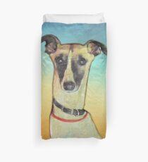Nettes Whippet Hundeportrait - Stanley das Whippet Bettbezug