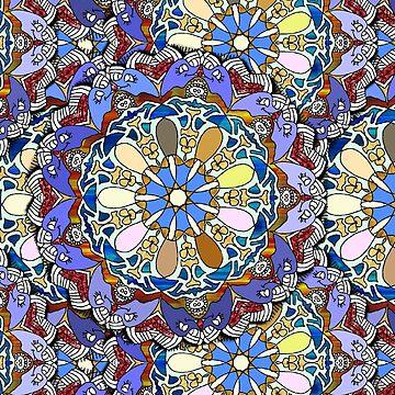 Mandala Style Doodle Art Layers   by Gravityx9