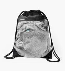 White Lioness Drawstring Bag