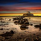 St Cwyfan Sunset by Adrian Evans