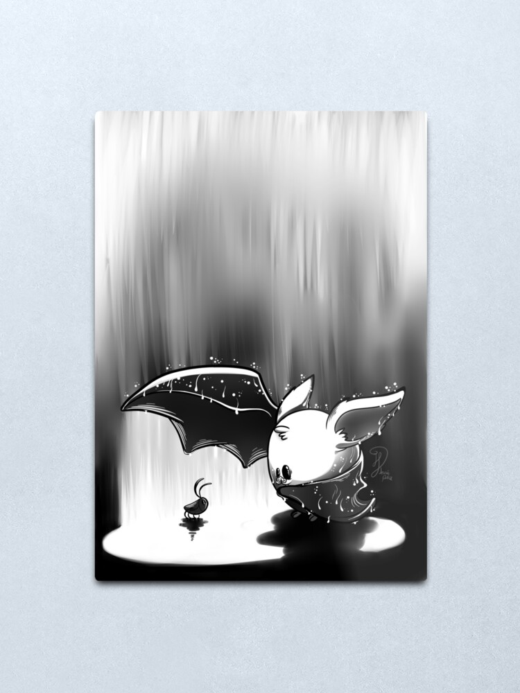 Alternate view of Baby bat Metal Print