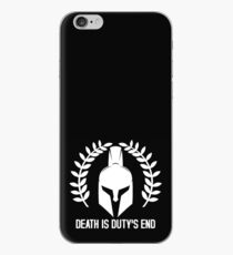Death is duty's end - Warhammer 40K Imperium saying iPhone Case