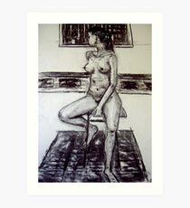 seated woman 2 Art Print