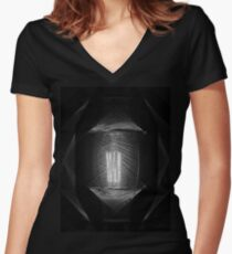 String Lamp in B&W Women's Fitted V-Neck T-Shirt