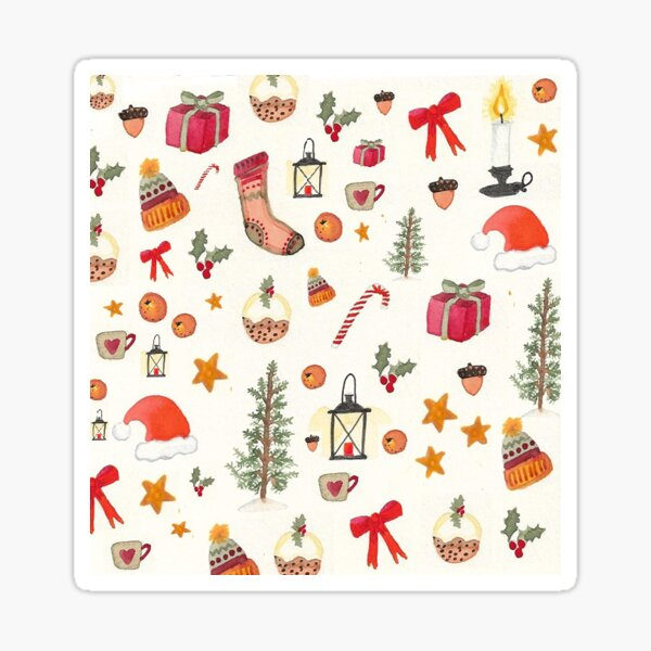 Folky Christmas Sticker