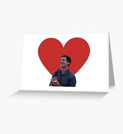 Brooklyn Nine Nine, Jake Peralta, Día de San Valentín, Romántico, Amor, Amistad, Sentimental, Ironía, Buena onda, regalo, presente, ideas Tarjeta de felicitación