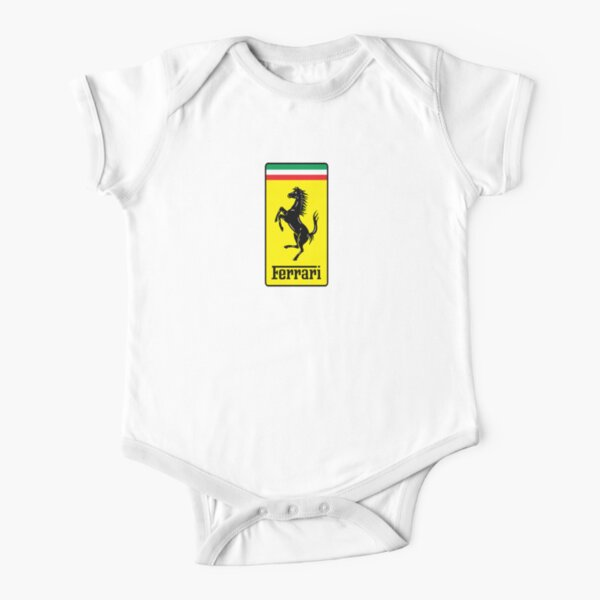 Ferrari LOGO !  Short Sleeve Baby One-Piece