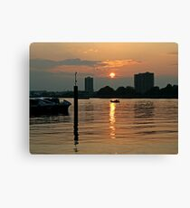Sun setting in Woolwich Canvas Print