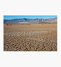 Cracked Earth Landscape Photographic Print